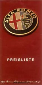 Prijslijst Alfa Romeo 75