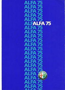 Alfa Romeo 75 Brochure